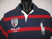 Polo Ralph Lauren Big Pony Crest Rugby PRLAC LXVII Red White Navy Blue L Custom