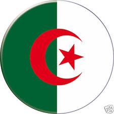 5 x sticker 5cm auto moto velo valise pc portable drapeau Rond Algérie-Algeria
