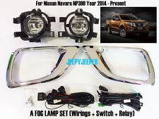 FOG LAMP SPOT LIGHT CHROME FRAME FOR NISSAN NAVARA NP300 D23 PICKUP 14 15 16