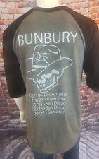 BUNBURY Concert 2016 Baseball T-Shirt Men's Size M Spanish Spain Band Music 813