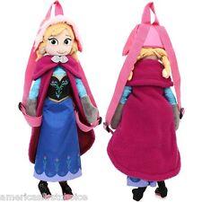 """Disney Frozen Anna Plush Doll Backpack Elsa Sister 18"""" Plush Costume Bag-New!"""