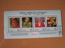Samoa,Diana,1997,M/Sheet Of 4 Vals,U/Mint,Excellent.