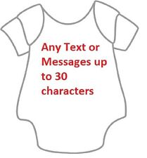 Personalised Embroidered Your Own Message Text Long Sleeves Baby Vest Grow