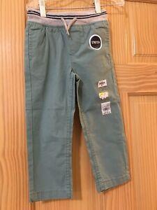 New Oshkosh Boys Pull on Pants Green Pants Stretch Many Sizes