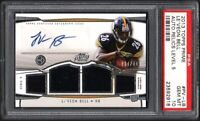 2013 Topps Prime #PVLB LE'VEON BELL RC Auto Relics Level 5 PSA 10 Gem Mint