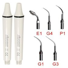 2 Dentista Ultrasonic Scaler Manipolo Ablatore handpiece + 5 Tips EMS Woodpecker