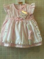 Baby Girl Spanish  style Dress Knickers Headband  Pink   0-3m 3-6 m 6-9 months