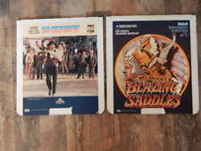 Vintage CED Videodisc LOT-Blazing Saddles, Support Your Local Sheriff-RARE!