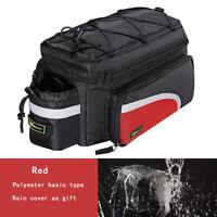 RockBros Bike Rear Carrier Bag Bicycle Rack Pack Bag Trunk Pannier Black Red