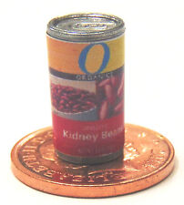 1:12 Scale Kidney Beans Tin Dolls House Miniature Vegetable Can Food Accessory O