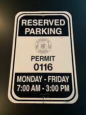 Used Alpharetta, Georgia Reserved Parking Sign! Metal * 12x18 * Atlanta Fulton