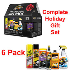 Car Cleaning Gift Set Care Cleaner Kit Shine Wash Wax Protectant 6 Pack Holiday