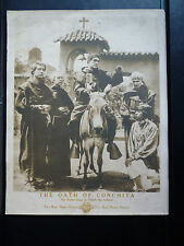 1913 THE OATH OF CONCHITA - RARE VERTICAL LOBBY CARD - PADRES INDIANS - SILENT