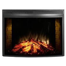"Muskoka 33"" Curved Glass Front Electric Heater Fireplace Insert MFB33C Firebox"