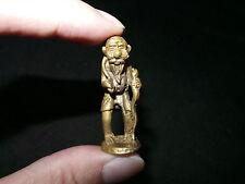 Old Thai Khmer Bronze Walking Hermit Choo Chok Luck Mini Statue