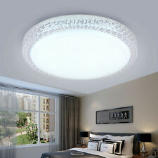 Crystal Bright Round LED Ceiling Light Bedroom Dimmable Energy Saving 8W UK