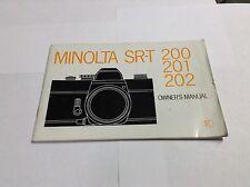 Minolta SRT-200,201,202 Manual