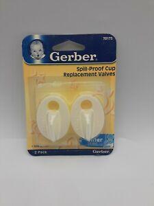 Gerber Graduates NUK Spill-Proof Replacement Valves #78175 pack of 2 valves