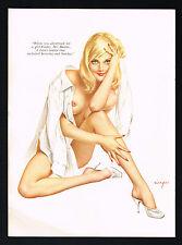 Vintage Alberto Vargas Girl Blonde Nude Woman Boyfriend Shirt Pin Up Art Print
