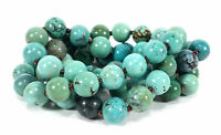 VINTAGE GRADUATED TURQUOISE STONE BEADS BEADED STRAND NECKLACE 70 GRAMS CHINESE