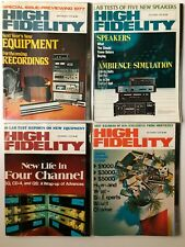 Lot of 4 Vintage 1976 High Fidelity Magazines - Audio Electronics Advertisements