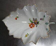 Ältere Hoechst Porzellan Schale Blumen Motiv Blattschale Höchst