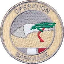 Opération BARKHANE, basse visibilité gris, diamètre 80 mm, en tissu (10205)