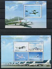 DOMINICA 2009 Chinesische Flugzeuge Militär Aircraft 4008-11 + Bl.541 ** MNH