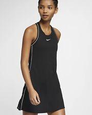 NEW Nike Court Dri-FIT Women's Tennis Dress Black Size  XS 939308-010
