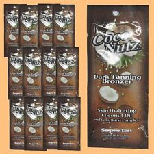 20 SUPRE COCO NUTZ DARK BRONZER PACKET TANNING BED LOTION SAMPLE FAST SHIP