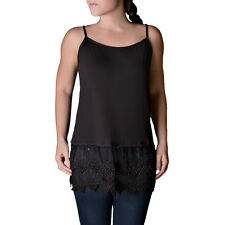 Lace Top Extender Camisole Black small/medium