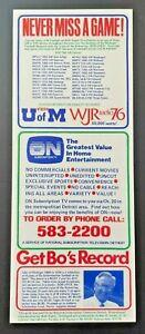 1979 MICHIGAN WOLVERINES Original Vintage Pocket Schedule Unfolded - Mint