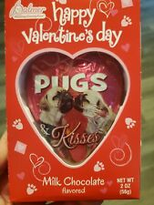 Valentines Day Pug Dog Sold Milk Chocolate Heart Foil Wrap Romance Love Candy