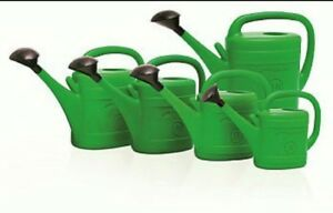 watering can green plastic with diffuser sizes garden patio 3L 5L 8L 10L