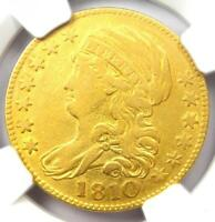 1810 Capped Bust Gold Half Eagle $5 - Certified NGC VF Details - Rare Gold Coin!