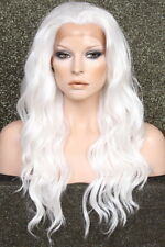 Full Lace Front WAVY LONG WIG White Futura HEAT SAFE WBYV NWT Hairpiece