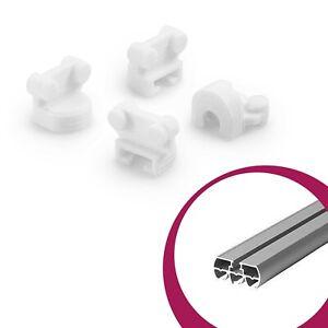 4x Roll Glider Spare Part for Ikea Kvartal Rail System Scrollbar