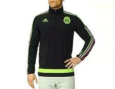 Adidas Team Mexico Federation Mexicana Soccer Black Green Fleece Sweatshirt M