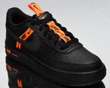 Nike Air Force 1 LV8 KSA GS Older Kids' Black Orange Athletic Lifestyle Sneakers