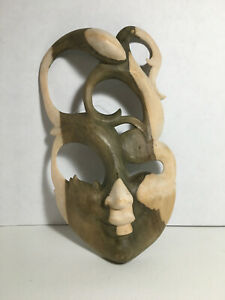 Wooden Face Mask Home Decor Wall Mount