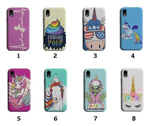 Unicorn Phone Case Cover Unicorns Girly Poo Poop Make Up Girls Rainbow 8093g