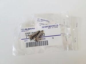 Hardware Stainless Subaru wrx sti front License plate delete screws OEM mounts