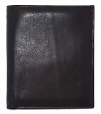Men's Genuine Leather Bifold Wallet Slim Hipster Black Cowhide Credit Card