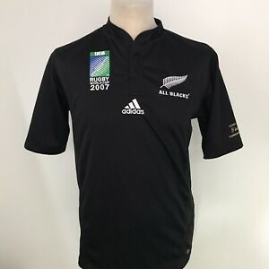 NEW ZEALAND Rugby Shirt 2007 Adidas Commemorative Edition Size Small