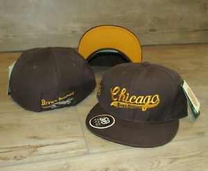 Chicago Brown Bombers Negro League Baseball Stall&Dean Fitted Hat Cap Size 7 1/2
