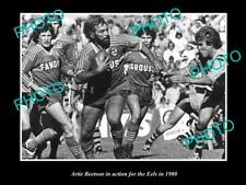 OLD LARGE HISTORICAL PHOTO OF ARTIE BEETSON IN ACTION FOR PARRAMATTA EELS c1980