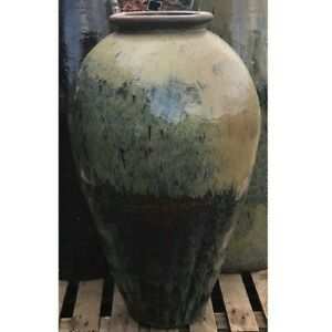 104cm CLEARANCE Yellow Chinese Yakuta Water Jar Xining Garden Planter/Plant Pot