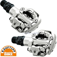 SHIMANO PD-M520S PEDAL MOUNTAIN BIKE SPD KLICKPEDAL CYCLOCROSS RACE FIXIE SILBER
