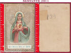 1467 SANTINO HOLY CARD COR MARIAE ORA PRO NOBIS SACRO CUORE DI MARIA