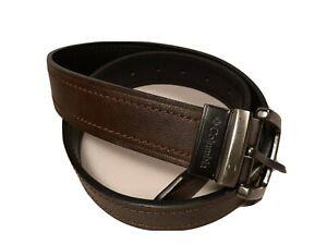 Columbia Reversible Black & Brown Casual Faux Leather Vegan Belt Mens Size 32